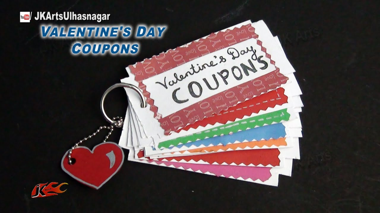 Diy Love Coupon Book Valentines Day Gift Idea Jk Arts 857 Youtube