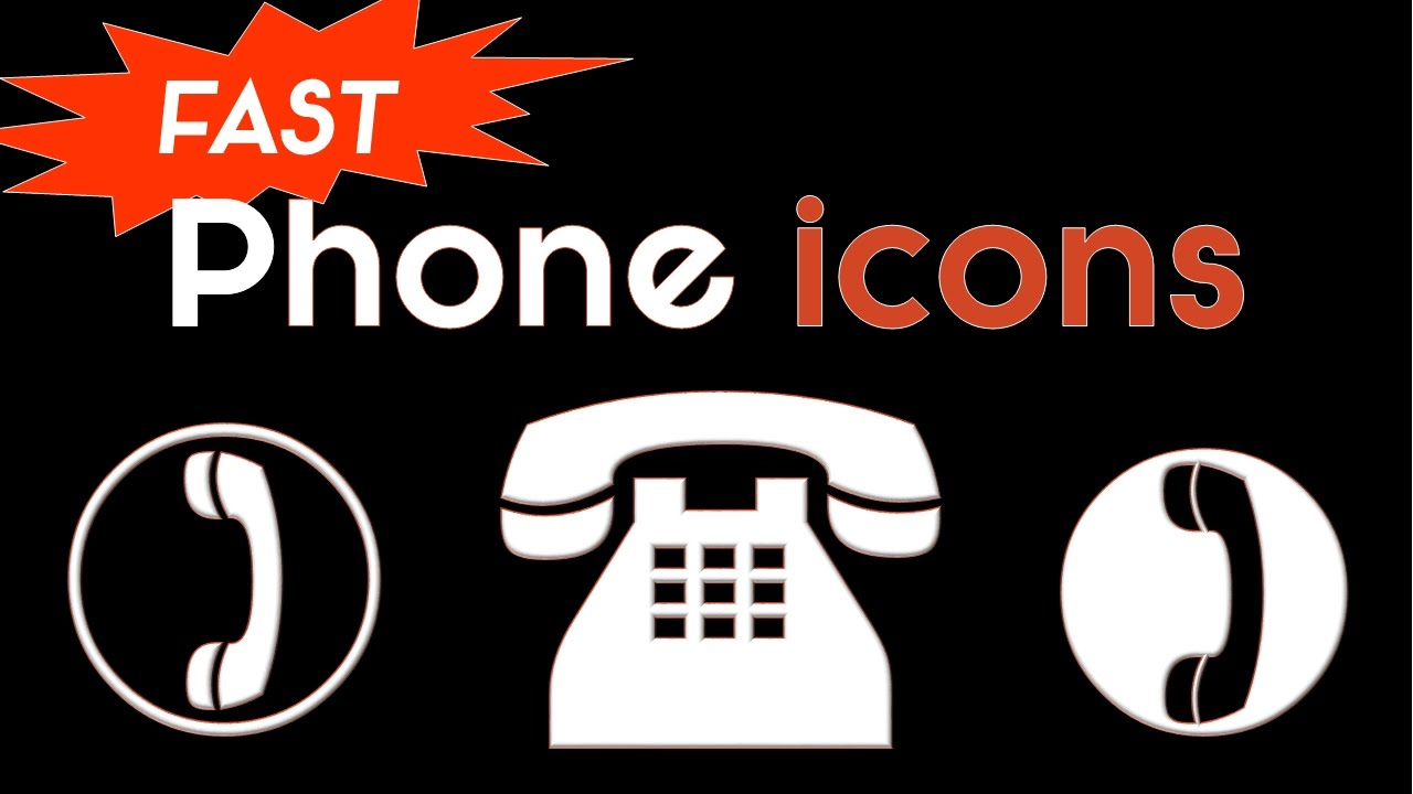 3 Phone Icons in Under 30 Seconds