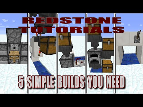 Minecraft Tutorials | Redstone | 5 Simple Builds You Need