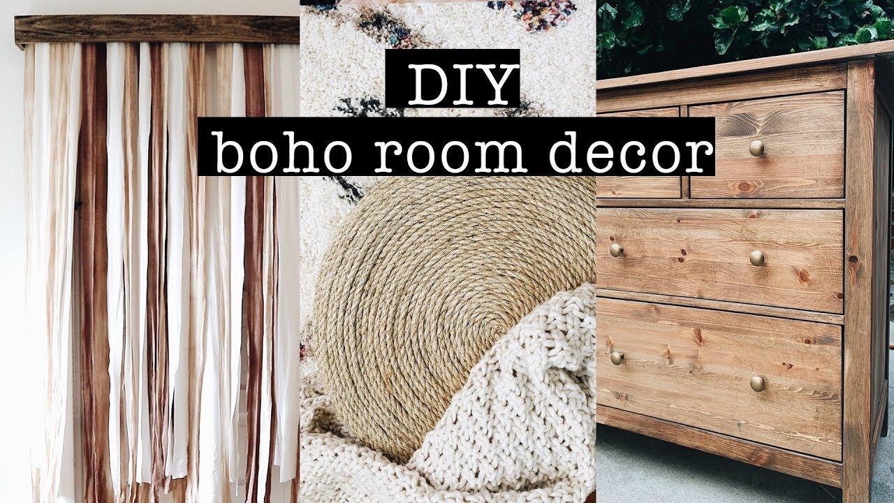 DIY BOHO ROOM DECOR on a budget // Bedroom Makeover (PART 10)