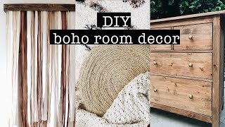 DIY BOHO ROOM DECOR on a budget // Bedroom Makeover (PART 1)