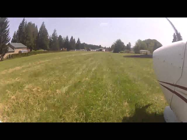 Landing at Sandy River Airport (03S)