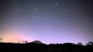冬の富士山、夕日~黄道光 / Mt. Fuji  & Zodiacal light / Time Lapse 25/Nov/2011