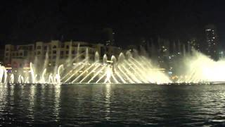 Burj Khalifa, Dubai Fountain Show  Arabic music :)