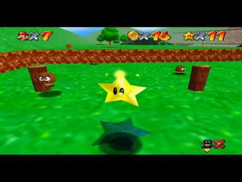 Super Mario 64 Course 1 - Bomb Omb Battlefield all stars