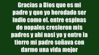 Banda Machos - Sangre De Indio (Letra)
