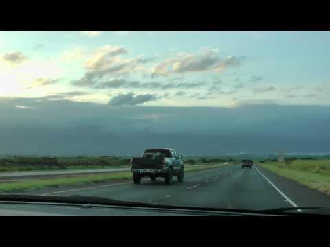 driving from Makawao to Kahului on Maui, Hawaii