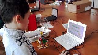 """Первый ролик команды юных программистов """"Миша and Миша"""". Урок робототехники- Паук"""
