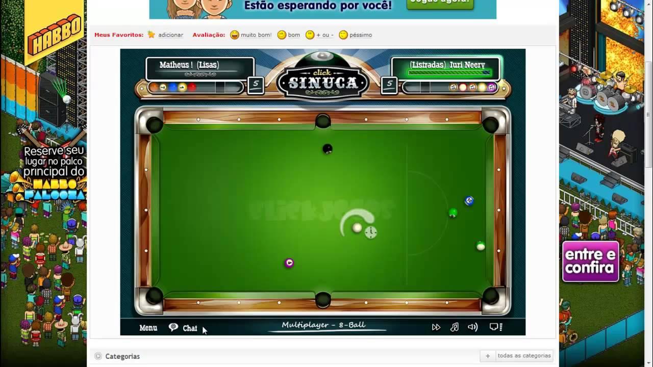 billiards no click jogos