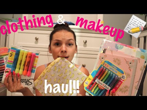Back to school shop with me + haul!!  l teen mom vlog