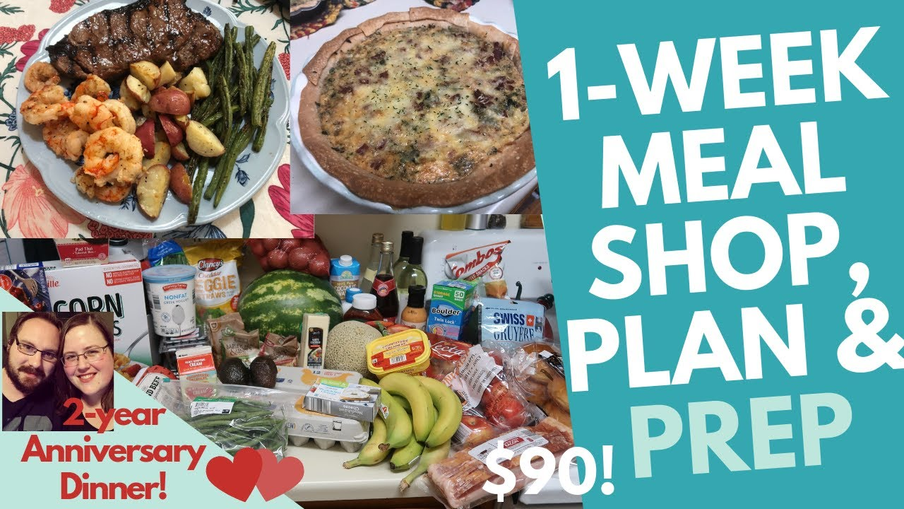 1-Week Meal Plan & Shop for Two for $90 ALDI with homemade anniversary  dinner!
