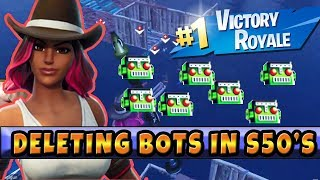 Supprimer les bots dans Soaring 50's Dropping Hot Into Enemy Lines Fortnite Saison 6 Full Gameplay