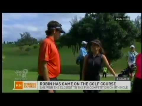 Robin Meade and Bubba Watson at 2012 PGA Grand Slam of Golf