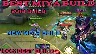 MIYA OP BUILD | 100% BEST BUILD | INSANE CRIT BUILD | MIYA BEST BUILD | MOBILE LEGENDS MIYA