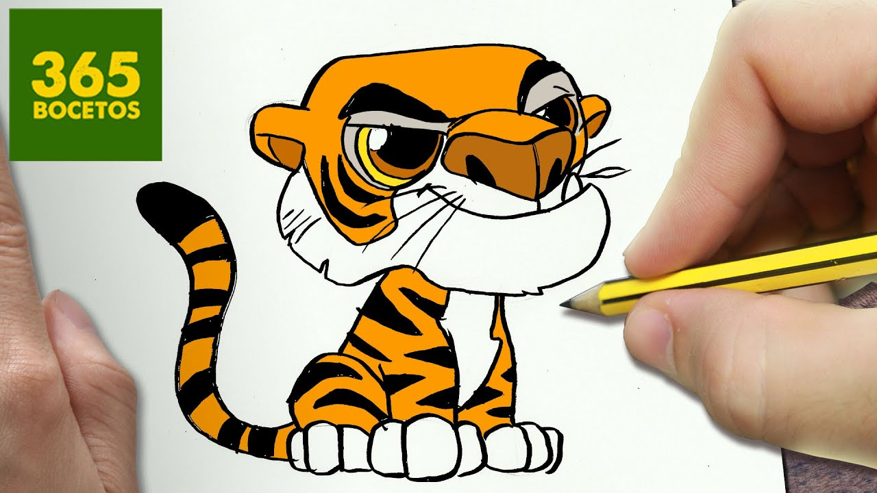Como Dibujar Shere Khan Kawaii Paso A Paso Dibujos Kawaii