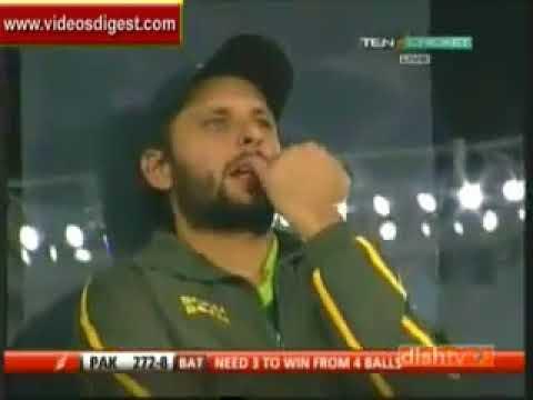 Pakistan Vs South Africa 2010 4th ODI Last 2 over highlights