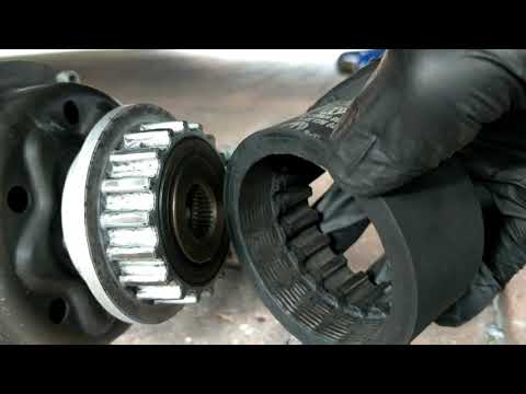 VW Transporter T5 2.5 Air Conditioning drive pulley failure.