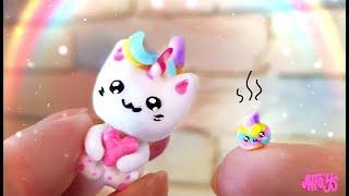 Кошка-Единорожка С Какашкой😂 DIY КОТОРОЖКА! Лепим Радужного Котёнка ❤️ Полимерная глина Мастер класс