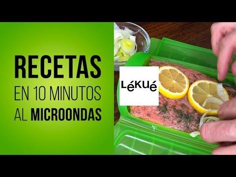 Recetas con LÉKUÉ Estuche de Vapor al Microondas con Dos Rombos en la Cocina