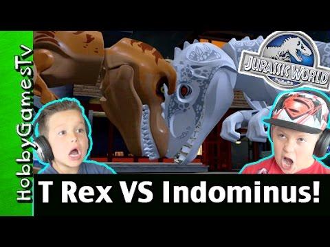 T Rex Vs Indominus Rex Dino Battle PS4 Gameplay by HobbyGamesTV