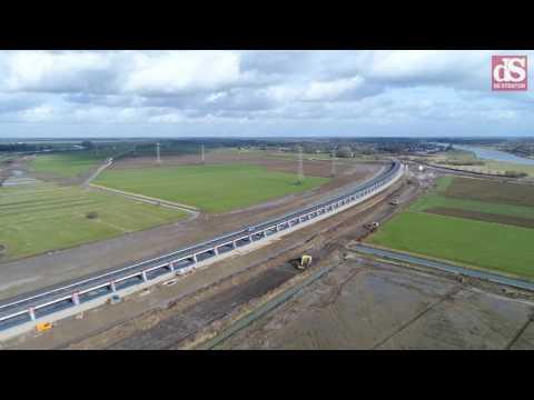 Dronebeelden: Hoogwatergeul Veessen klaar voor gebruik