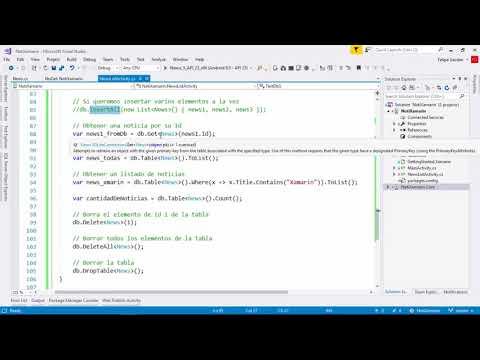 11- Tutorial Sqlite net - ejemplos y arquitectura | Proyecto 1 | Xamarin  Android