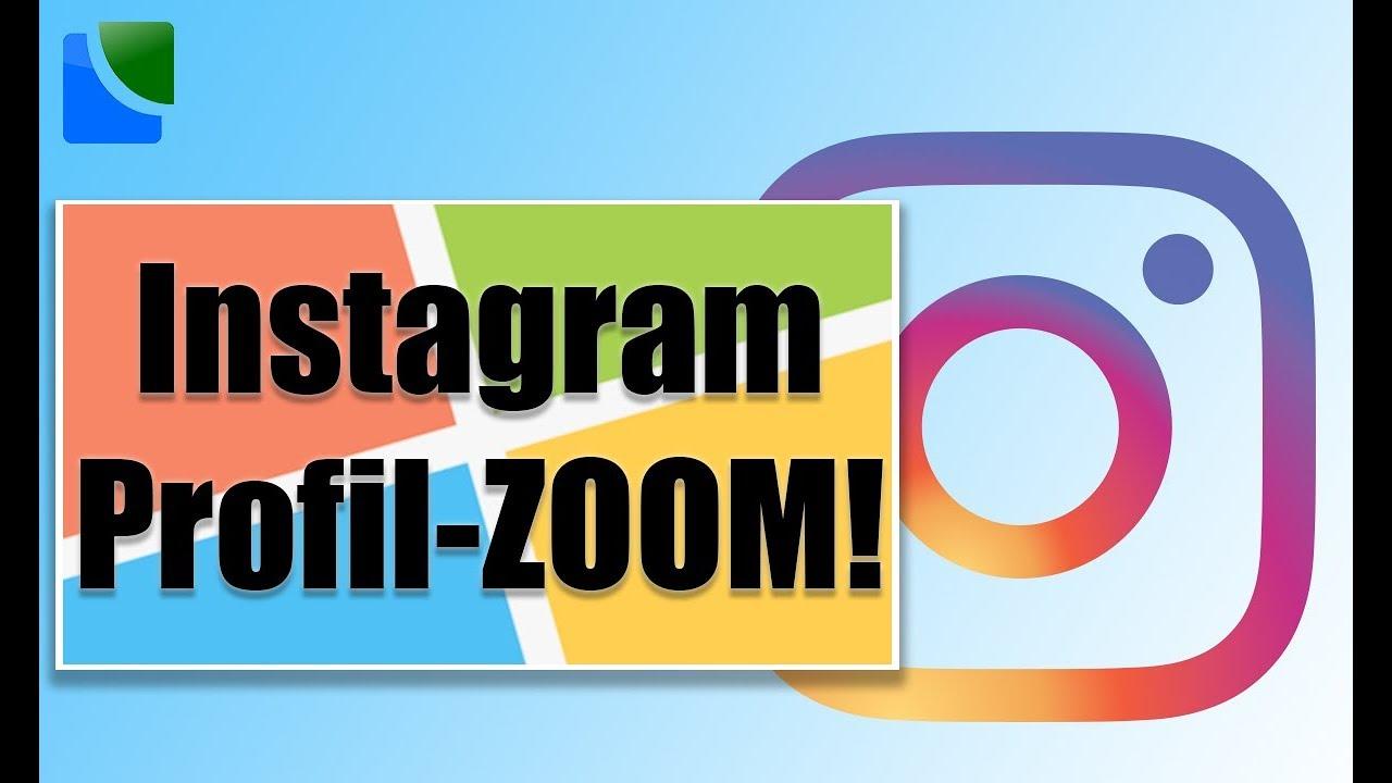 Instagram Profilbild vergrößern - YouTube