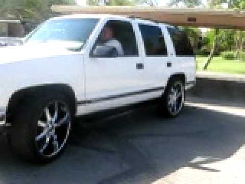 Lifted Chevrolet Tahoe >> 1998 Tahoe LT 4x4 on 24`s FOR SALE 5,000 pt 1 - YouTube