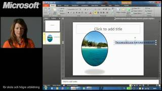 Skapa en presentation i PowerPoint 2010
