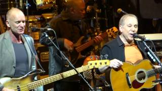 Paul Simon and Sting sing =] Love is the 7th Wave - Mother & Child Reunion [= Feb 8 2014