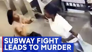 Video shows fight leading up to fatal subway station stabbing