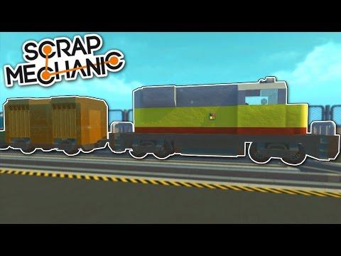 Freight Train & Rail Yard! - Mini City 2.0 [Ep.12] - Scrap Mechanic Gameplay & Trains Preview