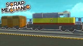 Freight Train & Rail Yard! - Mini City 2.0 [Ep.12] - Scrap Mechanic Gameplay & Trains Preview