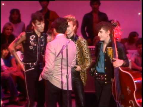 Dick Clark Interviews Stray Cats - American Bandstand 1983