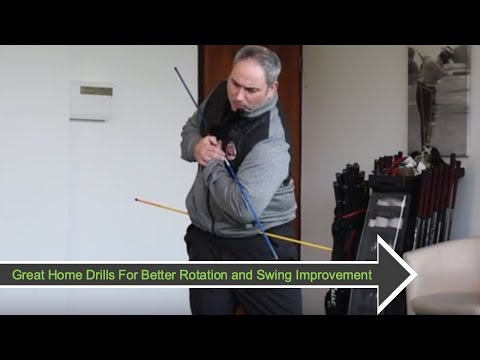 Golf Swing Indoor Practice Series At Home #4: Rotation Drills and Checkpoints