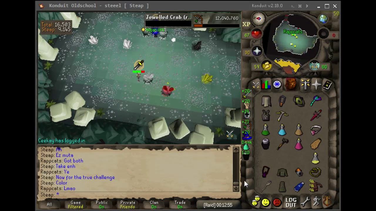 Osrs Full Duo Raid With Ingame Sounds Youtube