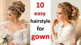 10 Romantic Hairstyle For Gown Party Hairstyles Wedding Hairstyles Hair Style Girl Youtube