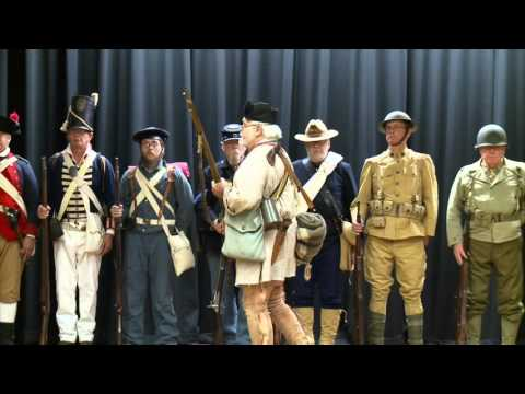 Soldiers of History Visit Northwood Middle School