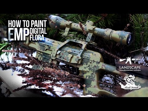 Покраска оружия в EMP (цифрофлора) / How to paint EMP (Digital flora)