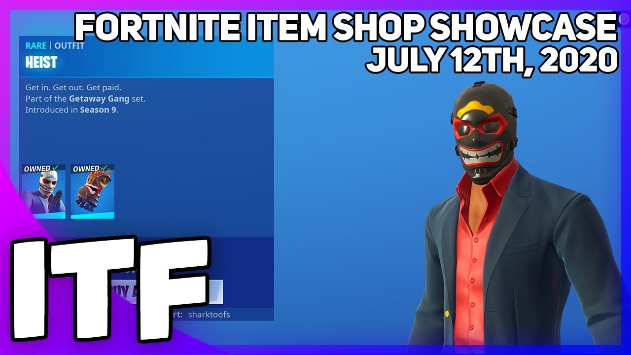 Fortnite Item Shop *RARE* HEIST SKIN IS BACK! [July 12th, 2020] (Fortnite Battle Royale)