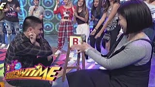 It's Showtime: Ronnie Alonte does the duck walk as punishment for losing in CaSh-Ya! Kaya!