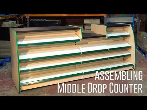 How To Assemble A Middle Drop Shop Counter - Assembly Step By Step Video Guide - Shelving4shops