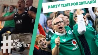 Ireland fans celebrate epic win in Chicago | #MyRugbyMoment
