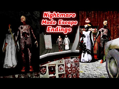 Granny Chapter Two Nightmare Mode All Escape Endings PC Version