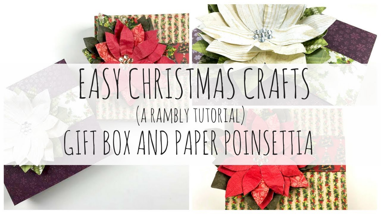 Super simple christmas crafts 1 gift box and paper poinsettia super simple christmas crafts 1 gift box and paper poinsettia a rambly tutorial jeuxipadfo Image collections