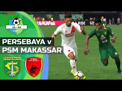 Persebaya Vs PSM Makassar - Super Big Match Gojek Liga 1 2018 | PES 2017 Gameplay PC