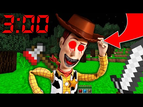 NE JAMAIS FAIRE SPAWN SHÉRIF WOODY À 3H00 DU MATIN MINECRAFT ! Toy Story 4 !