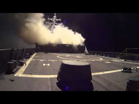 USS Arleigh Burke launches Tomahawk Land Attack Missiles to combat ISIL