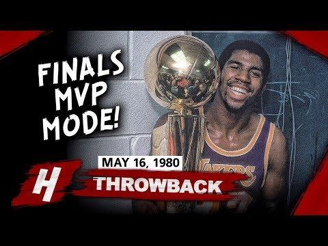 Rookie Magic Johnson Full Game 6 Highlights vs 76ers (1980 NBA Finals) - 42 Pts, 15 Reb, FINALS MVP!