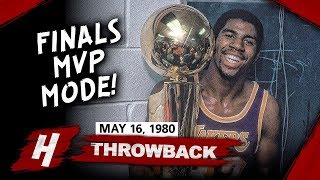 Rookie Magic Johnson Full Game 6 Highlights vs 76ers (1980 NBA Finals) - 42 Pts, 15 Reb, FINALS MVP!